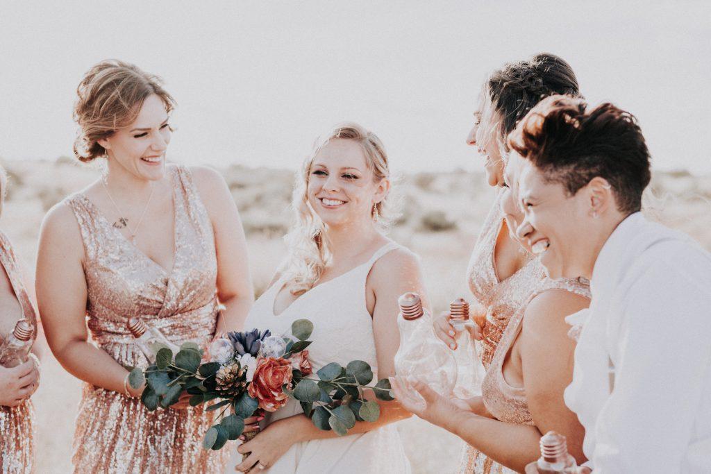 wedding, bridal party