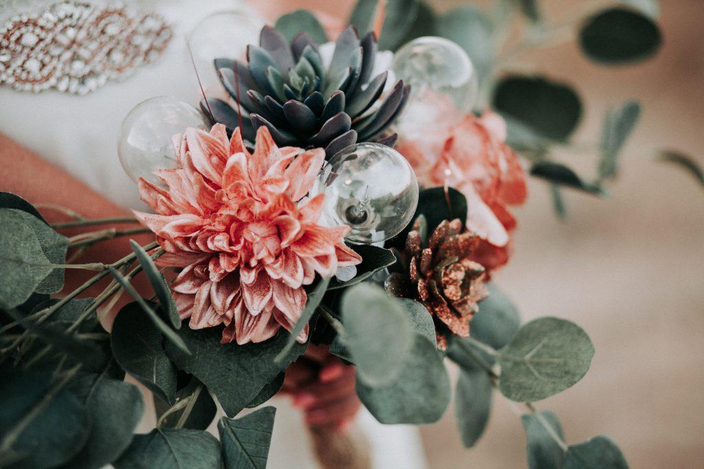 floral, bling, bouquet