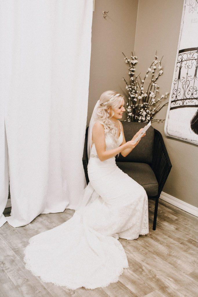 bride, first look, wedding dress