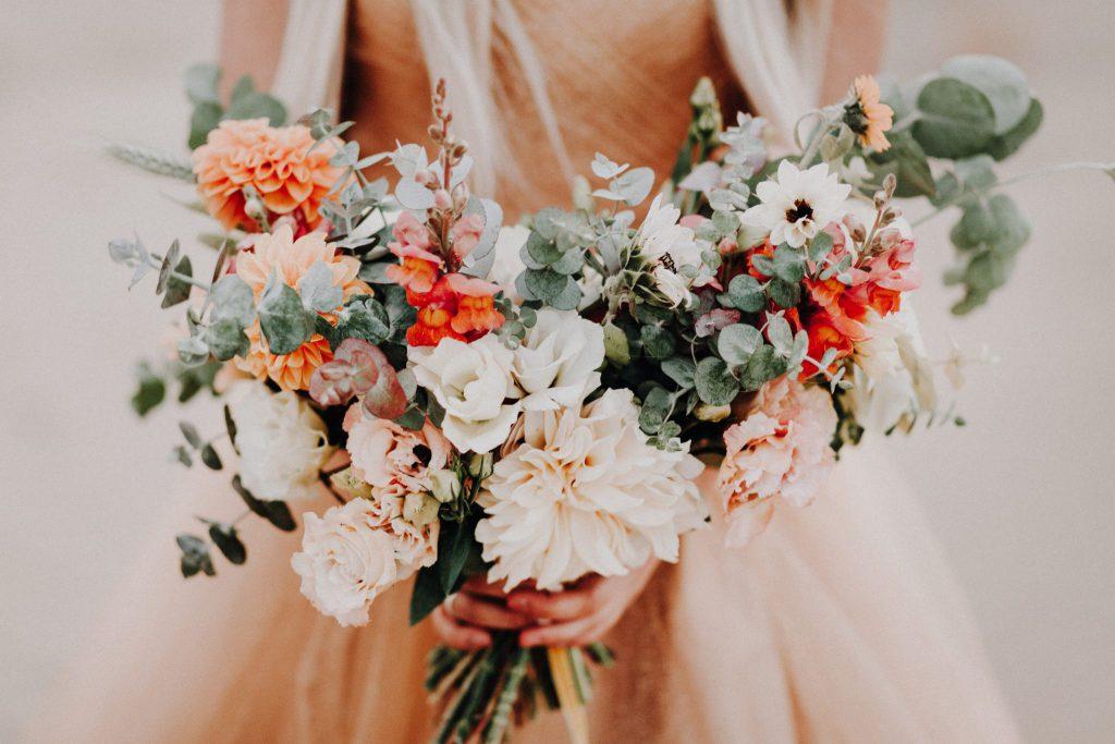 bride, bouquet, boudoir