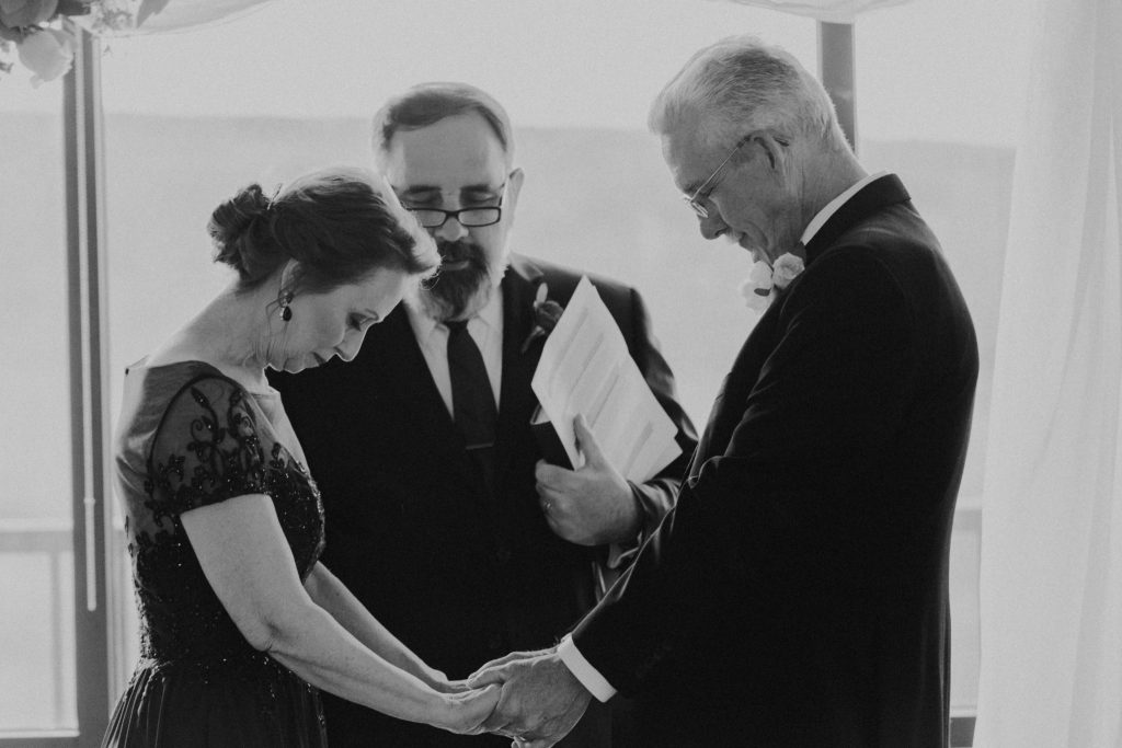 ceremony, bride, mature couple