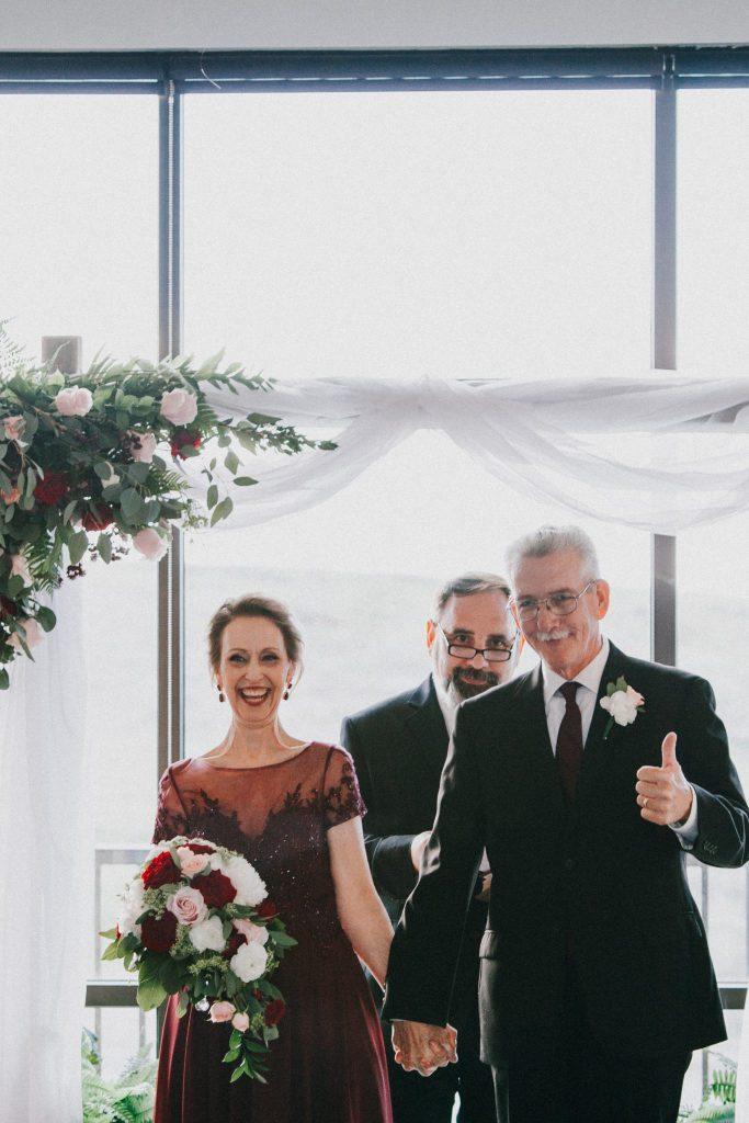 wedding couple, mature bride, elopement