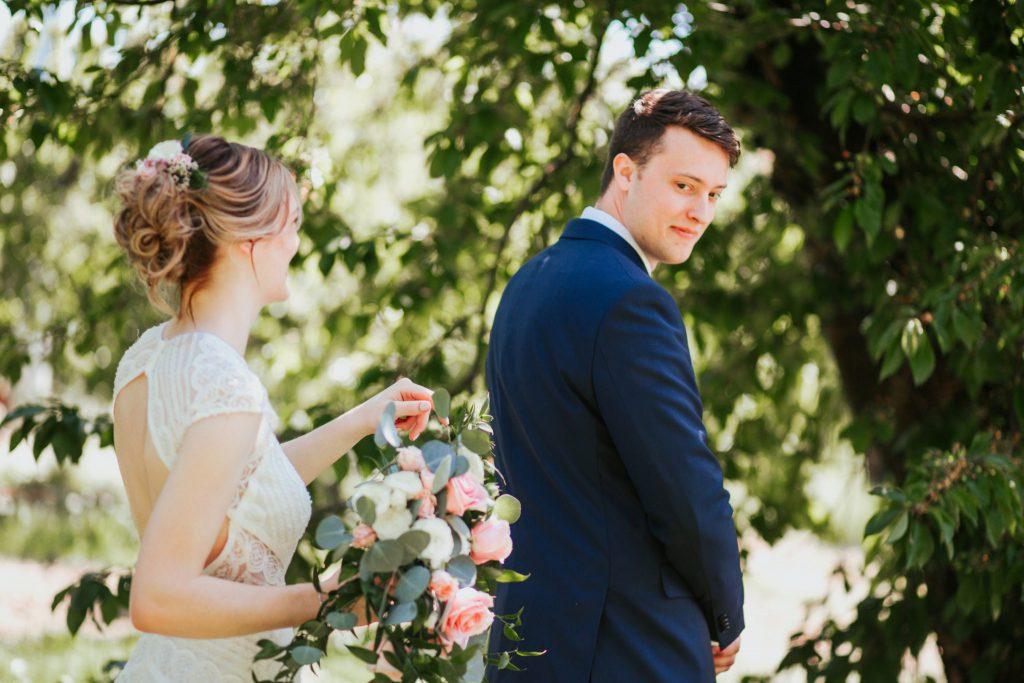 first look, bride, wedding
