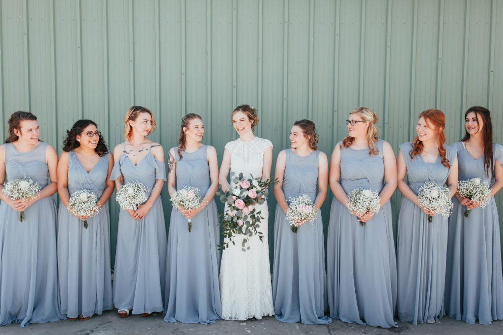 wedding, Boise, bridal party