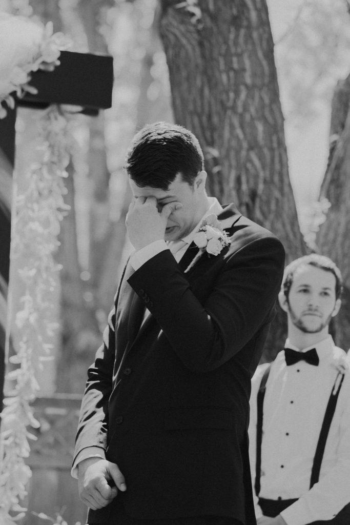 reaction, groom, wedding