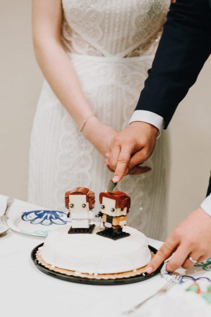 cake cutting, details, reception