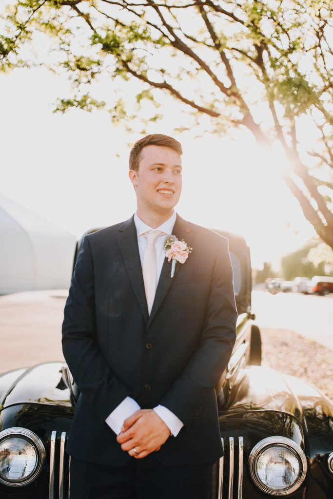 wedding, groom ,couple, vintage car